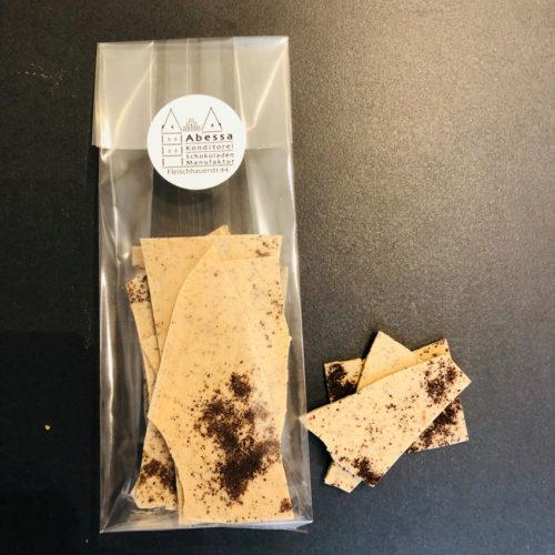Blonde Schokolade mit Kaffee
