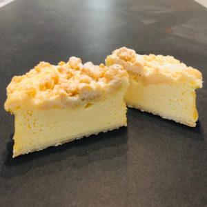 Käsekuchen mit Butterstreusel aus der Konditorei Abessa aus Lübeck