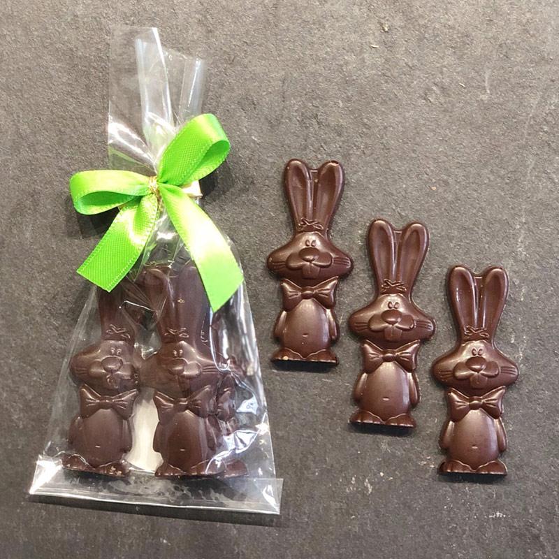 Oster-Schokoladenhaeschen-Zartbitter aus der Konditorei Abessa aus Lübeck