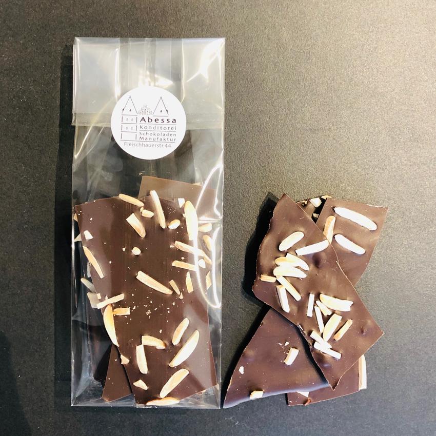 Zartbitterschokolade 60% mit gerösteten Mandeln